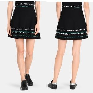 A|X Armani Exchange ZIGZAG JACQUARD SWEATER SKIRT